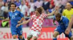 Croatian midfielder Luka Modric strikes during the Euro 2012 championships football match Italy vs Croatia, Municipal Stadium, Poznan, 14 June 2012.