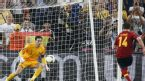 Xabi Alonso scores a penalty against France, Spain v France, Euro 2012, Donetsk, June 23, 2012