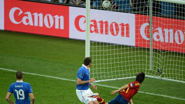 David Silva Goal - Spanyol vs Itali