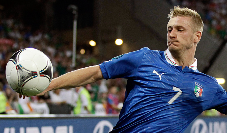 Ignazio Abate in action for Italy against Ireland in Poznan, Poland on June 18 2012