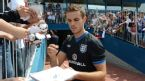 Jordan Henderson signs autographs for fans after an England training session, Suche Stawy Municipal Stadium, Krakow, Poland June 8, 2012