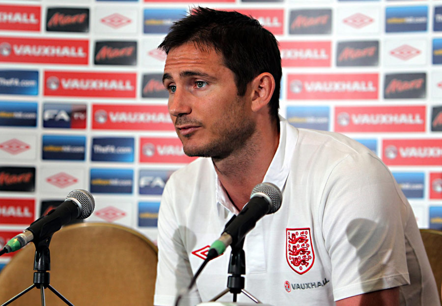 Frank Lampard addresses the media