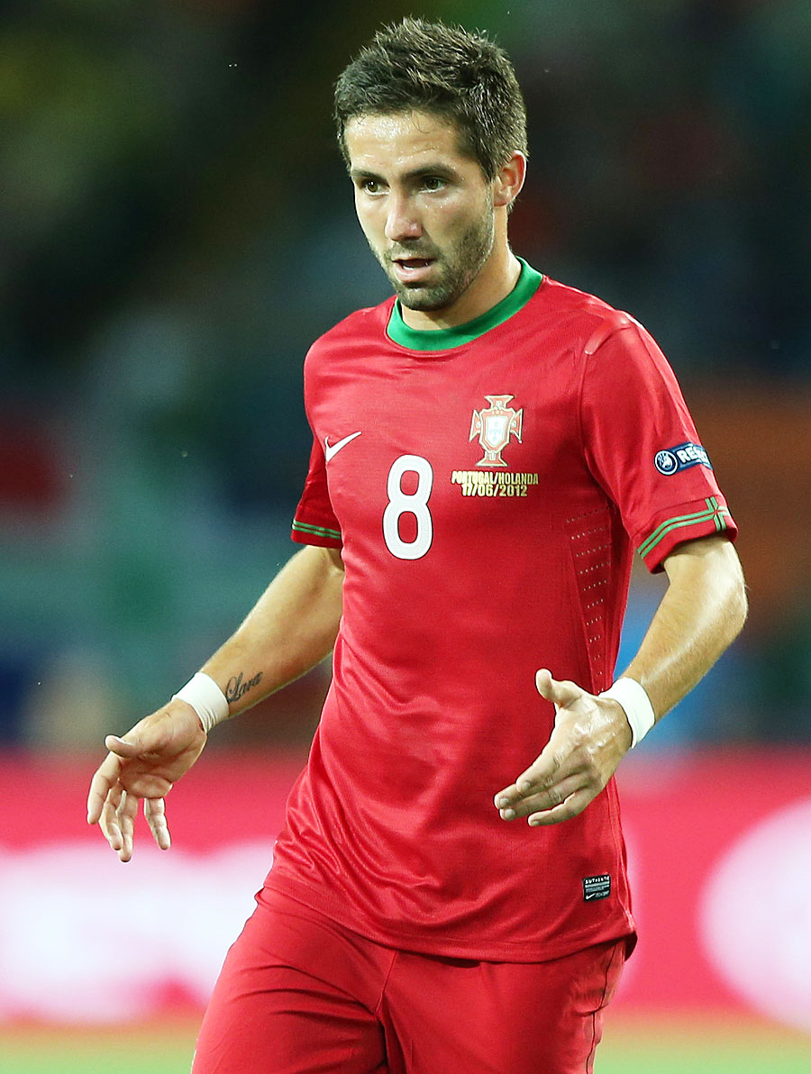 Joao Moutinho in action against Netherlands