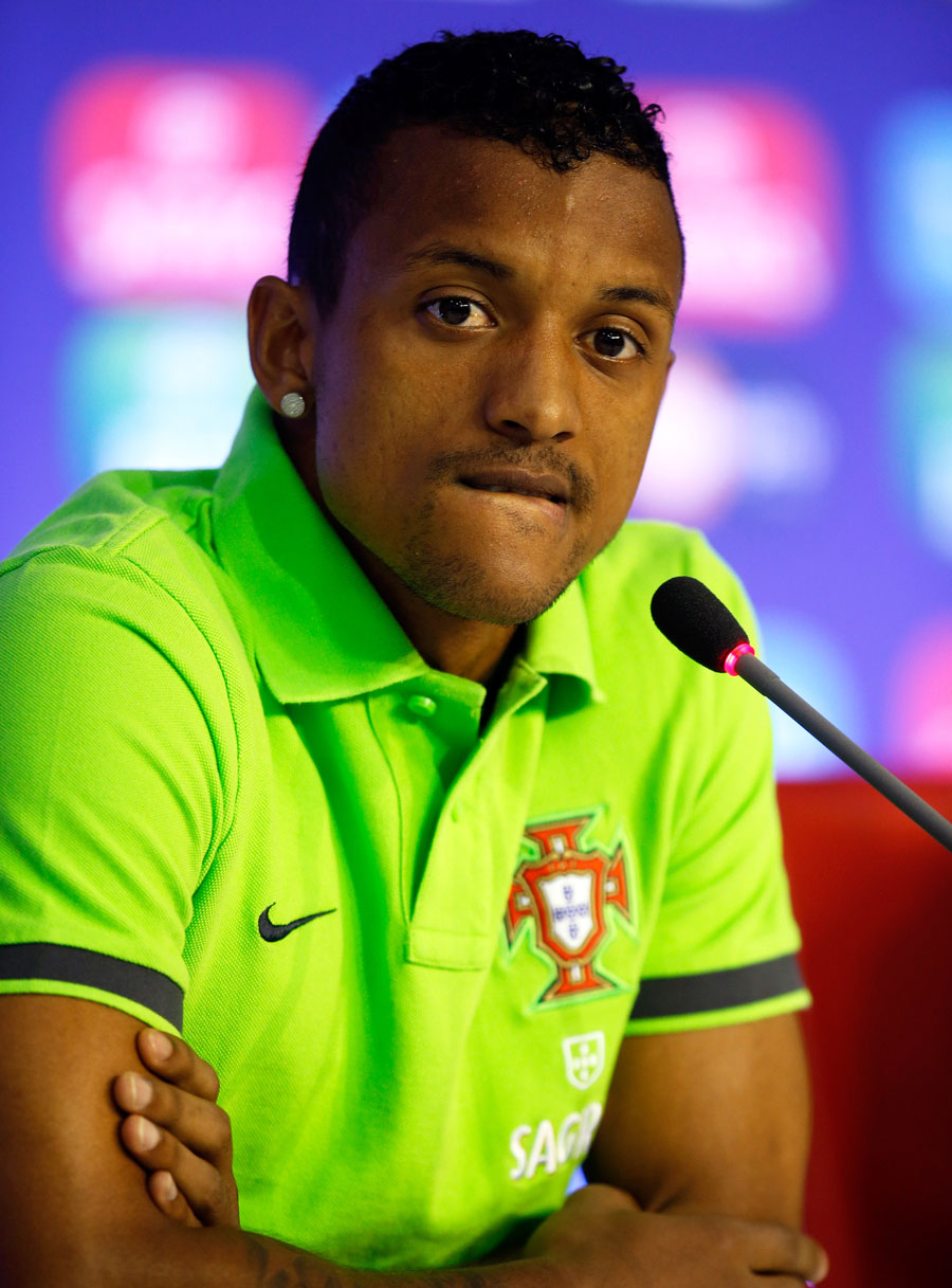Portugal winger Nani attends a press conference